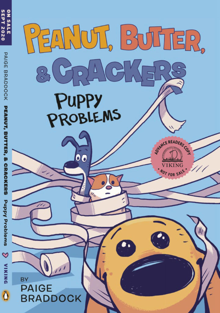 Book cover of Peanut, Butter, & Crackers: Puppy Problems.